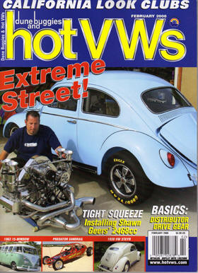 Geers on the cover of Hot VW's